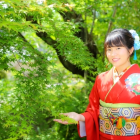 furisode nara ikoma obi kimono yamaguchi