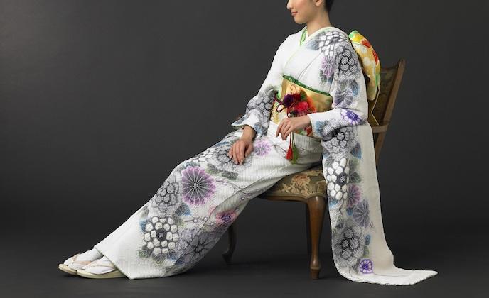 hujimusume kinutaya shibori furisode ikoma nara obi kimono yamaguchi