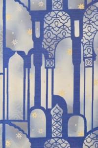 lapis lazuli genichibou nishijin kyoto obi kimono yamaguchi ikoma nara