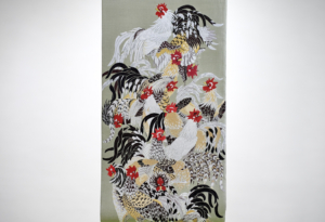 Jakuchu tonami-obi orimono Nishijin Kyoto Ikoma Nara Obi Kimono Yamaguchi