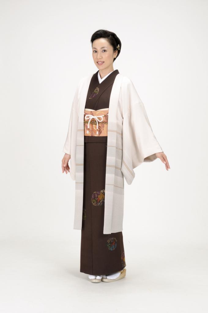 haori horiichi Plaid koushi Ikoma Nara Obi Kimono Yamaguchi