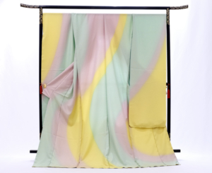 gold silk ougonshi furisode Ikoma Nara Obi Kimono Yamaguchi