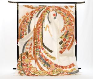 yuzen furisode Ikoma Nara Obi Kimono Yamaguchi