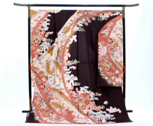 shibori furisode Ikoma Nara Obi Kimono Yamaguchi