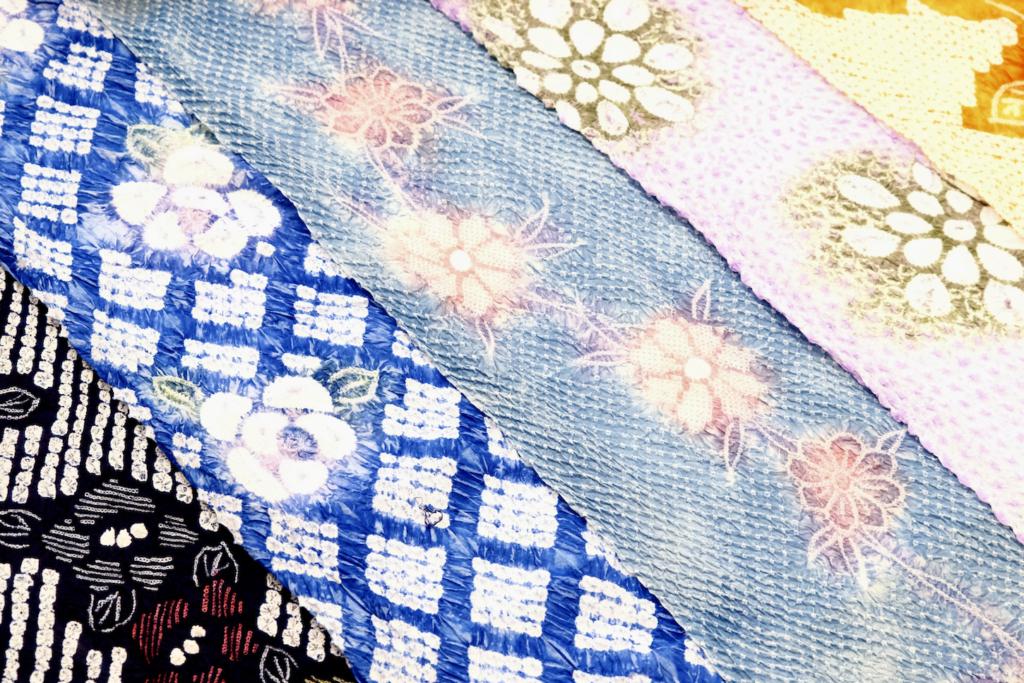 arimatsu shibori tie-dye yukata Ikoma Nara Obi Kimono Yamaguchi