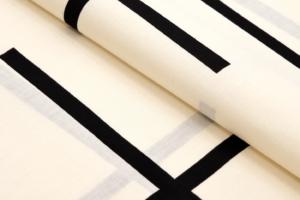 yukata Torn grid beige kuro black cotton kondaya genbei kyoto Ikoma Nara Obi Kimono Yamaguchi