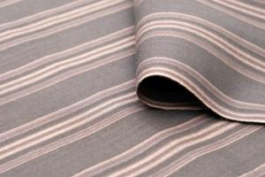 yukata Stripes kuro black gray grey cotton linen kondaya genbei kyoto Ikoma Nara Obi Kimono Yamaguchi