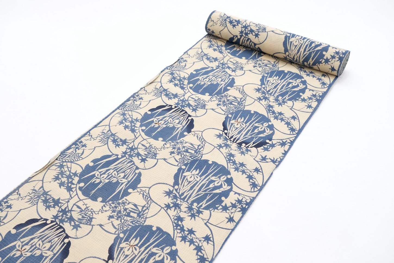 chikusen cotton koubaiori menkoubai yukata Ikoma Nara Obi Kimono Yamaguchi